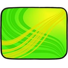 Abstract Green Yellow Background Double Sided Fleece Blanket (mini)