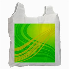Abstract Green Yellow Background Recycle Bag (one Side)