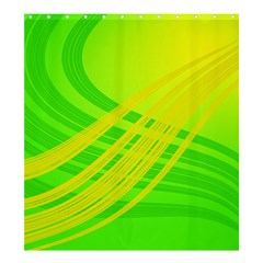 Abstract Green Yellow Background Shower Curtain 66  X 72  (large)