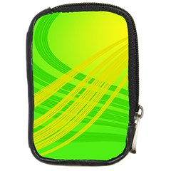 Abstract Green Yellow Background Compact Camera Cases
