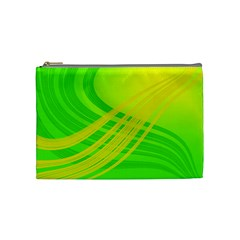 Abstract Green Yellow Background Cosmetic Bag (medium)