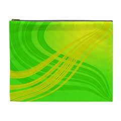 Abstract Green Yellow Background Cosmetic Bag (xl)