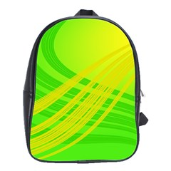 Abstract Green Yellow Background School Bags(large)