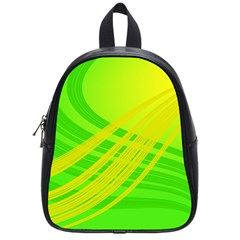 Abstract Green Yellow Background School Bags (small)