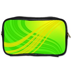 Abstract Green Yellow Background Toiletries Bags 2-Side