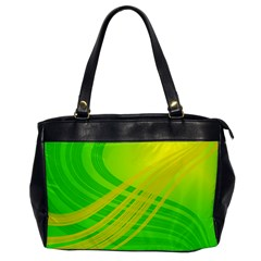 Abstract Green Yellow Background Office Handbags