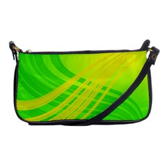 Abstract Green Yellow Background Shoulder Clutch Bags