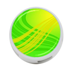 Abstract Green Yellow Background 4 Port Usb Hub (two Sides)
