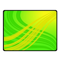 Abstract Green Yellow Background Fleece Blanket (small)