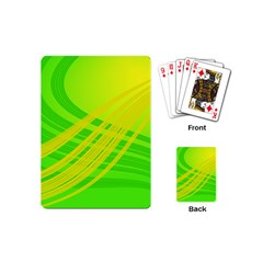 Abstract Green Yellow Background Playing Cards (mini)
