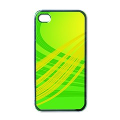 Abstract Green Yellow Background Apple Iphone 4 Case (black)