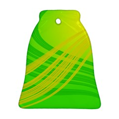 Abstract Green Yellow Background Bell Ornament (two Sides)