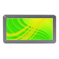 Abstract Green Yellow Background Memory Card Reader (mini)