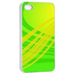 Abstract Green Yellow Background Apple Iphone 4/4s Seamless Case (white)