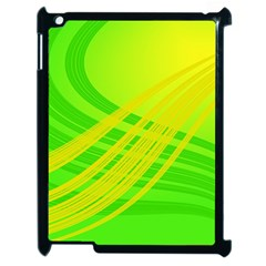 Abstract Green Yellow Background Apple Ipad 2 Case (black)