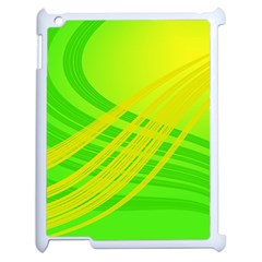 Abstract Green Yellow Background Apple Ipad 2 Case (white)