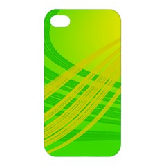 Abstract Green Yellow Background Apple Iphone 4/4s Hardshell Case