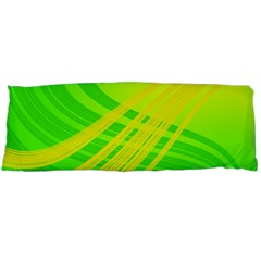 Abstract Green Yellow Background Body Pillow Case (dakimakura)