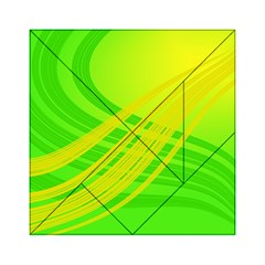 Abstract Green Yellow Background Acrylic Tangram Puzzle (6  X 6 )