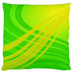 Abstract Green Yellow Background Large Cushion Case (one Side)