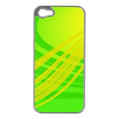 Abstract Green Yellow Background Apple Iphone 5 Case (silver)