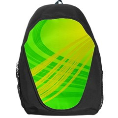Abstract Green Yellow Background Backpack Bag