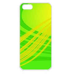 Abstract Green Yellow Background Apple Iphone 5 Seamless Case (white)