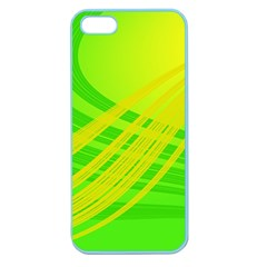 Abstract Green Yellow Background Apple Seamless Iphone 5 Case (color)