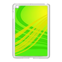 Abstract Green Yellow Background Apple Ipad Mini Case (white)