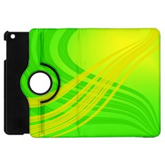 Abstract Green Yellow Background Apple Ipad Mini Flip 360 Case