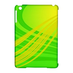 Abstract Green Yellow Background Apple Ipad Mini Hardshell Case (compatible With Smart Cover)