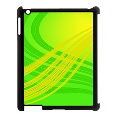 Abstract Green Yellow Background Apple Ipad 3/4 Case (black)