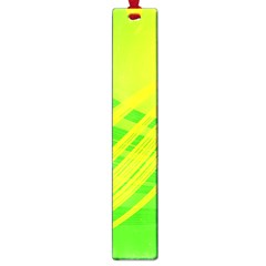 Abstract Green Yellow Background Large Book Marks