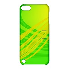 Abstract Green Yellow Background Apple Ipod Touch 5 Hardshell Case With Stand