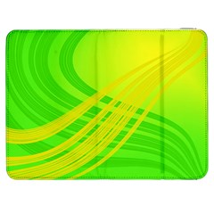 Abstract Green Yellow Background Samsung Galaxy Tab 7  P1000 Flip Case