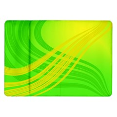 Abstract Green Yellow Background Samsung Galaxy Tab 10 1  P7500 Flip Case