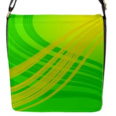 Abstract Green Yellow Background Flap Messenger Bag (S)