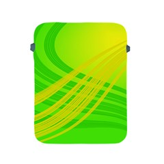 Abstract Green Yellow Background Apple Ipad 2/3/4 Protective Soft Cases