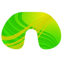 Abstract Green Yellow Background Travel Neck Pillows