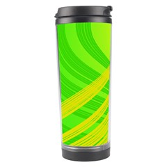 Abstract Green Yellow Background Travel Tumbler