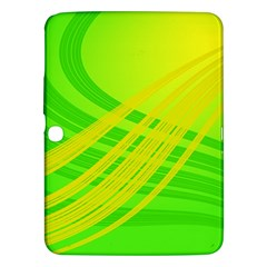 Abstract Green Yellow Background Samsung Galaxy Tab 3 (10 1 ) P5200 Hardshell Case