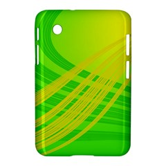 Abstract Green Yellow Background Samsung Galaxy Tab 2 (7 ) P3100 Hardshell Case