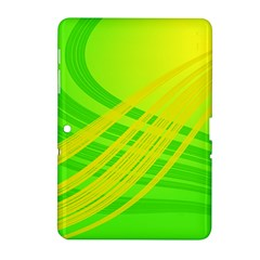 Abstract Green Yellow Background Samsung Galaxy Tab 2 (10 1 ) P5100 Hardshell Case