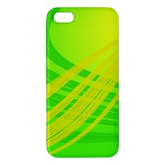 Abstract Green Yellow Background Iphone 5s/ Se Premium Hardshell Case