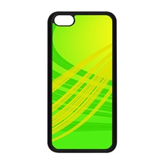 Abstract Green Yellow Background Apple Iphone 5c Seamless Case (black)