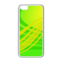 Abstract Green Yellow Background Apple iPhone 5C Seamless Case (White)