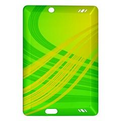 Abstract Green Yellow Background Amazon Kindle Fire Hd (2013) Hardshell Case