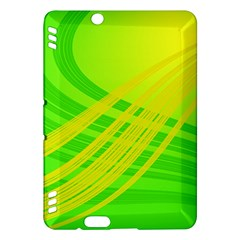 Abstract Green Yellow Background Kindle Fire Hdx Hardshell Case