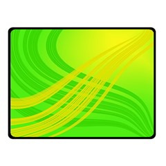 Abstract Green Yellow Background Double Sided Fleece Blanket (small)