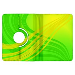 Abstract Green Yellow Background Kindle Fire Hdx Flip 360 Case